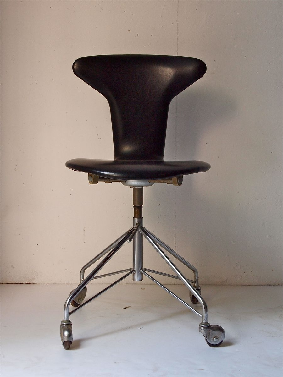 midcentury mosquito desk chair by arne jacobsen for fritz hansen  - midcentury mosquito desk chair by arne jacobsen for fritz hansen