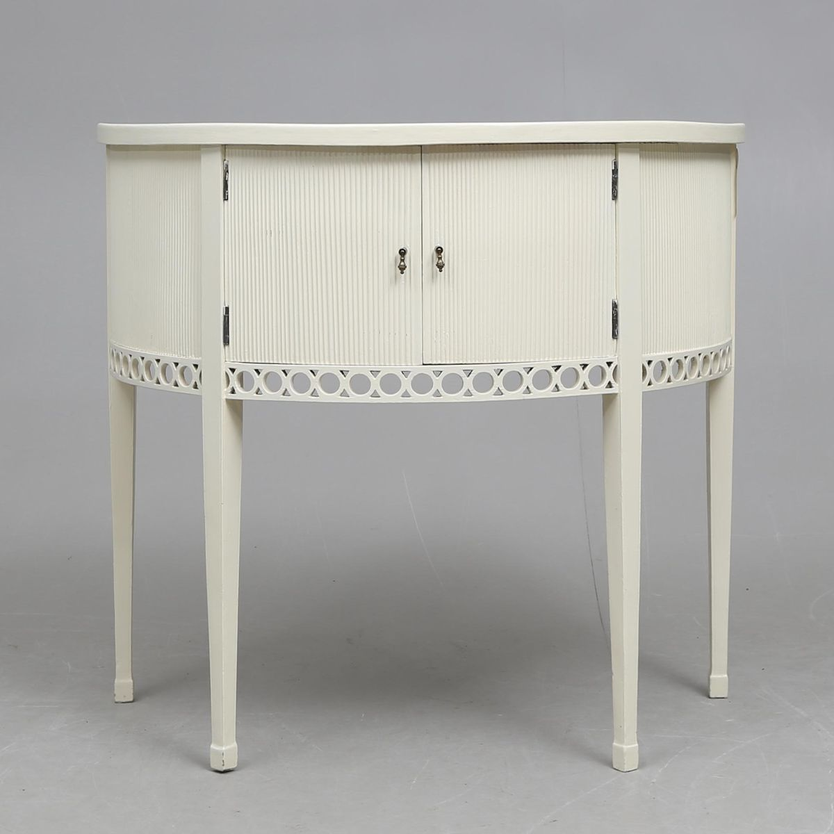 Antique gustavian half moon console table for sale at pamono - Console vintage scandinave ...