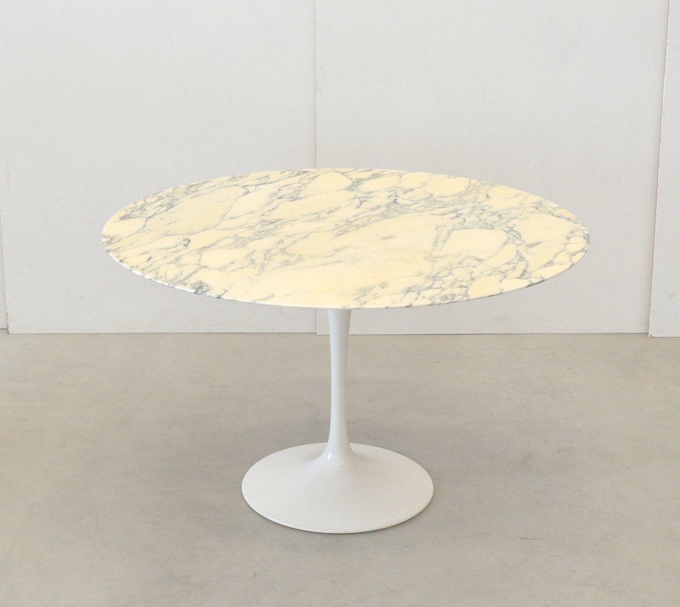 Table de salle manger calacatta en marbre par eero saarinen pour knoll inernational 1970s - Tavolo saarinen knoll originale ...