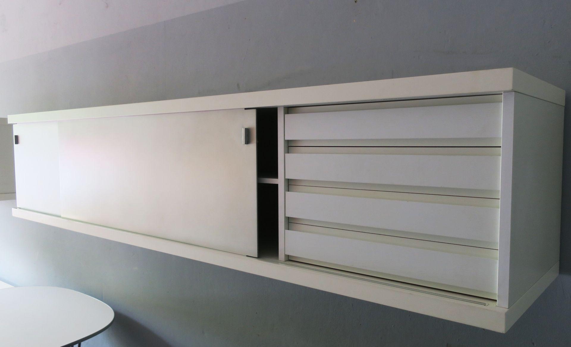 minimalistisches schwebendes sideboard von horst bruning f r behr 1960er bei pamono kaufen. Black Bedroom Furniture Sets. Home Design Ideas