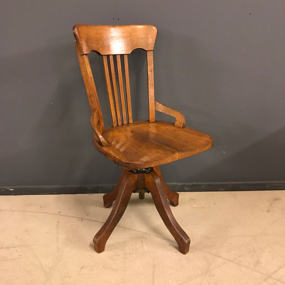 Vintage French Swivel Desk Chair 1930s For Sale At Pamono