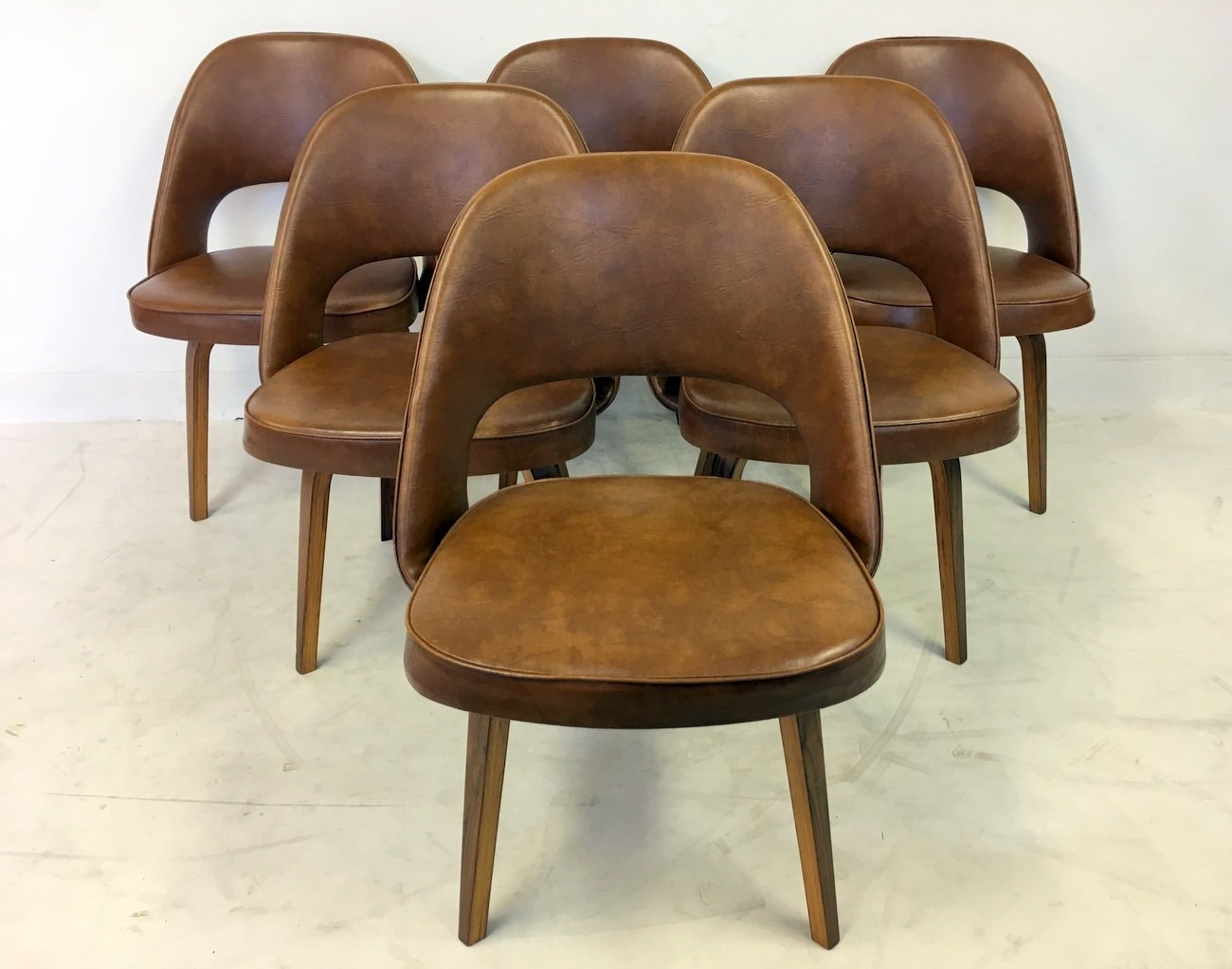 Vintage executive chairs by eero saarinen for knoll set of 6 for sale at pamono - Knoll inc chairs ...