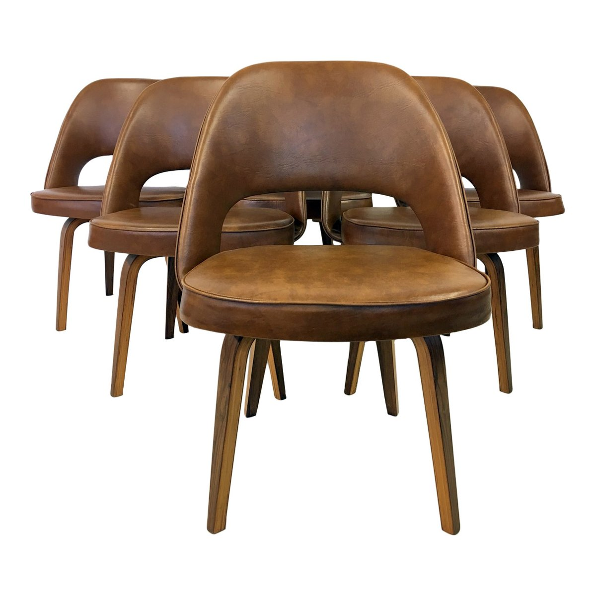 Vintage Executive Chairs by Eero Saarinen for Knoll Set of 6 for