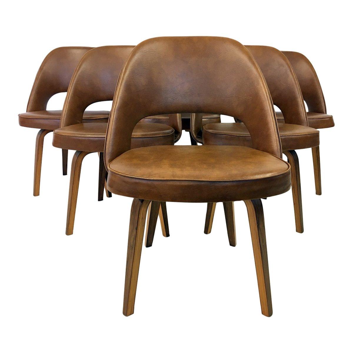 Chair saarinen executive chair - Vintage Executive Chairs By Eero Saarinen For Knoll Set Of 6