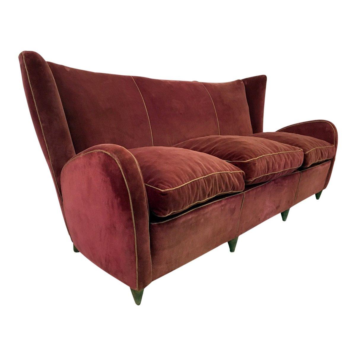 Italienisches sofa von paolo buffa 1950er bei pamono kaufen for Italienisches sofa