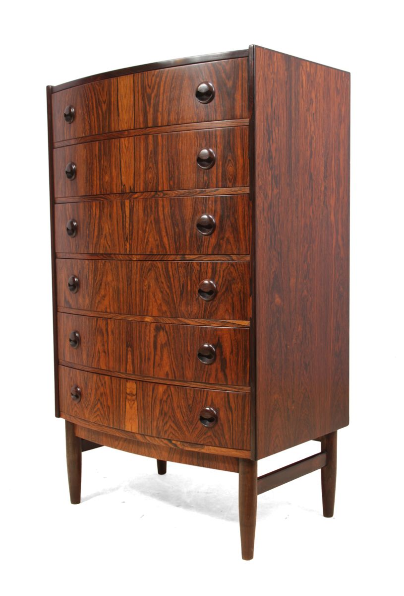 d nische mid century kommode aus palisander 1960er bei pamono kaufen. Black Bedroom Furniture Sets. Home Design Ideas