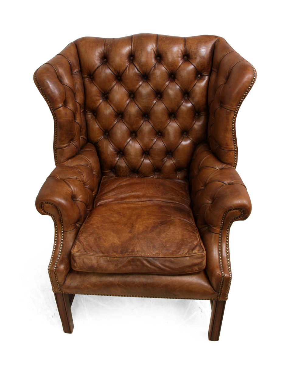 Wingback Chair Mid Century Leather Wingback Chair For Sale At Pamono