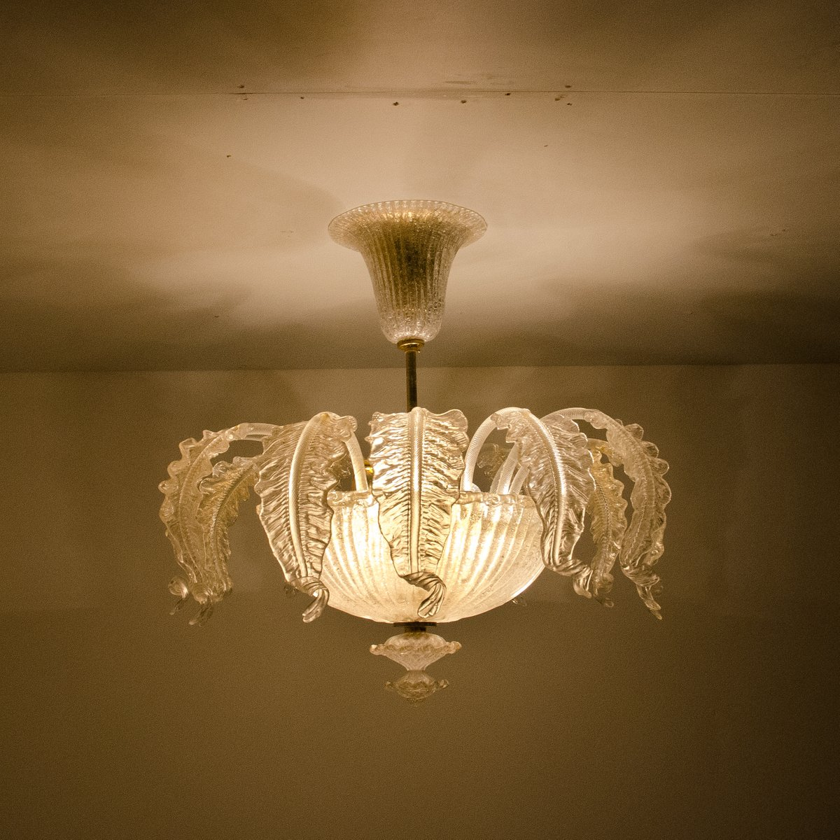 murano glass chandelier from barovier toso 1955 for. Black Bedroom Furniture Sets. Home Design Ideas