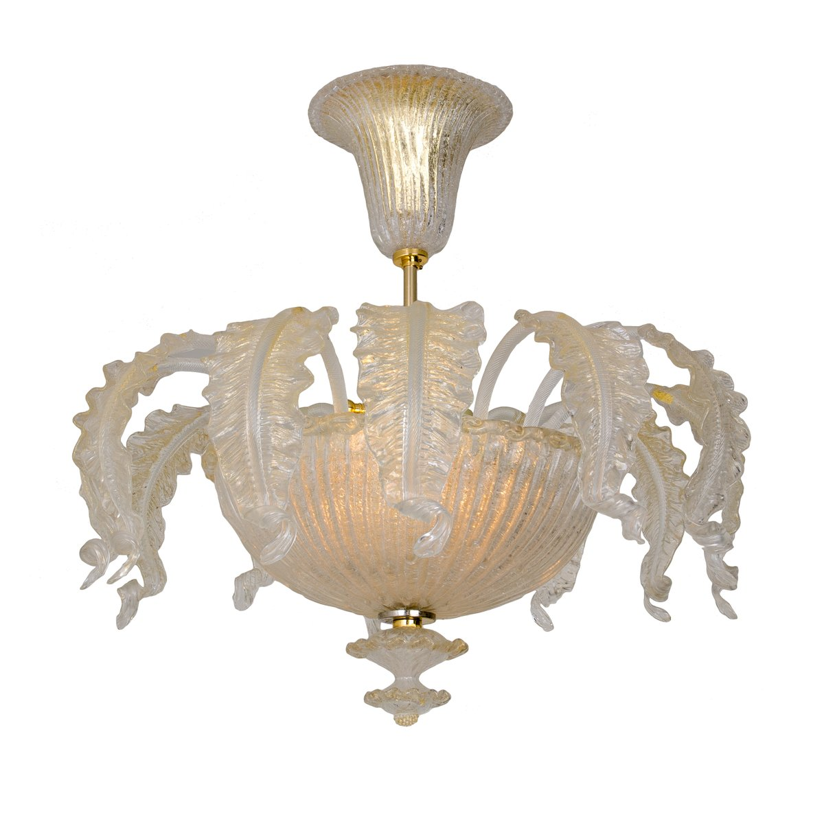 Murano Chandelier Australia: Murano Glass Chandelier From Barovier & Toso, 1955 For