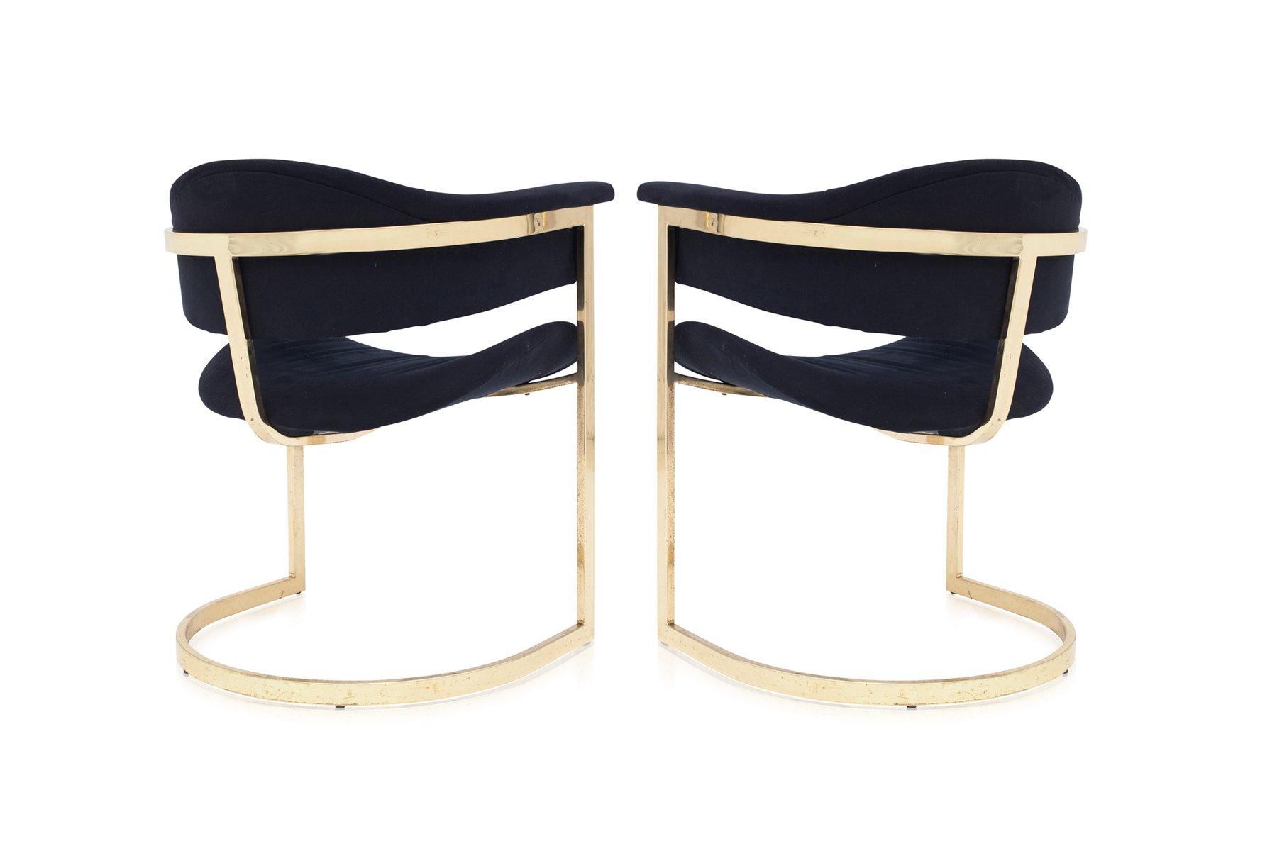 Chaises de Salon Vintage en Laiton de Roche Bobois, Set de 6 en ...