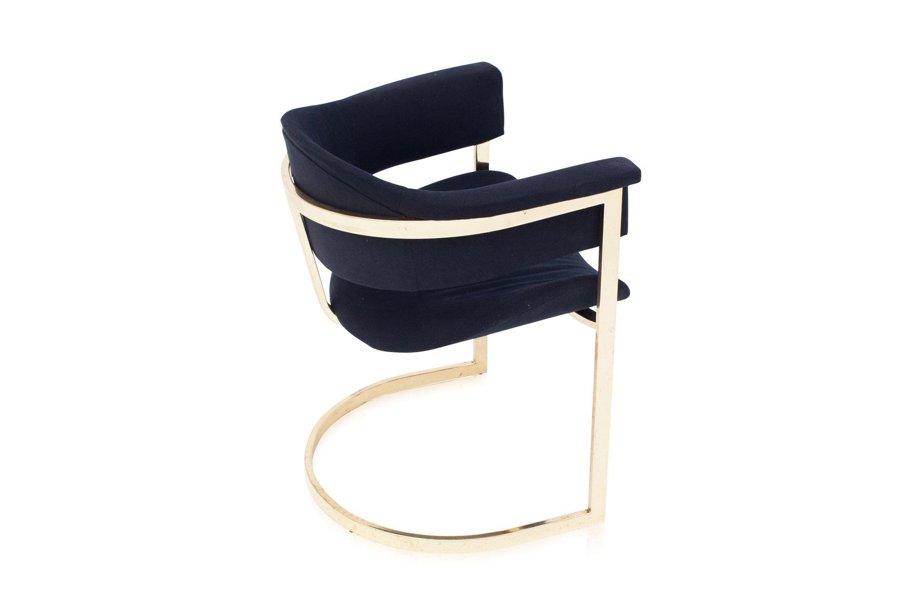 chaises de salon vintage en laiton de roche bobois set de 6 en vente sur pamono. Black Bedroom Furniture Sets. Home Design Ideas