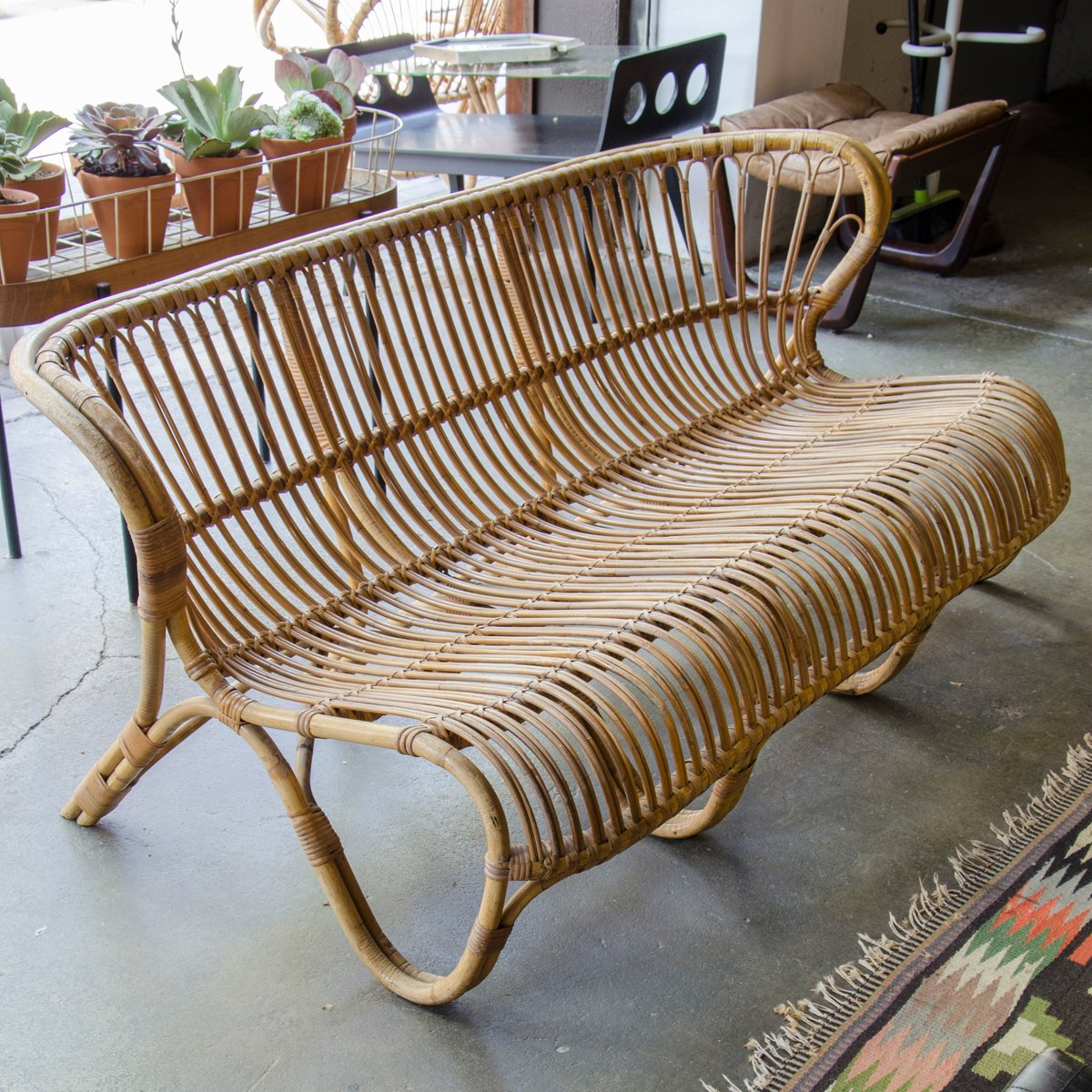 Used Cane Sofa For Sale In Bangalore: Vintage Bamboo And Cane Sofa By Viggo Boesen Fox For E.V.A