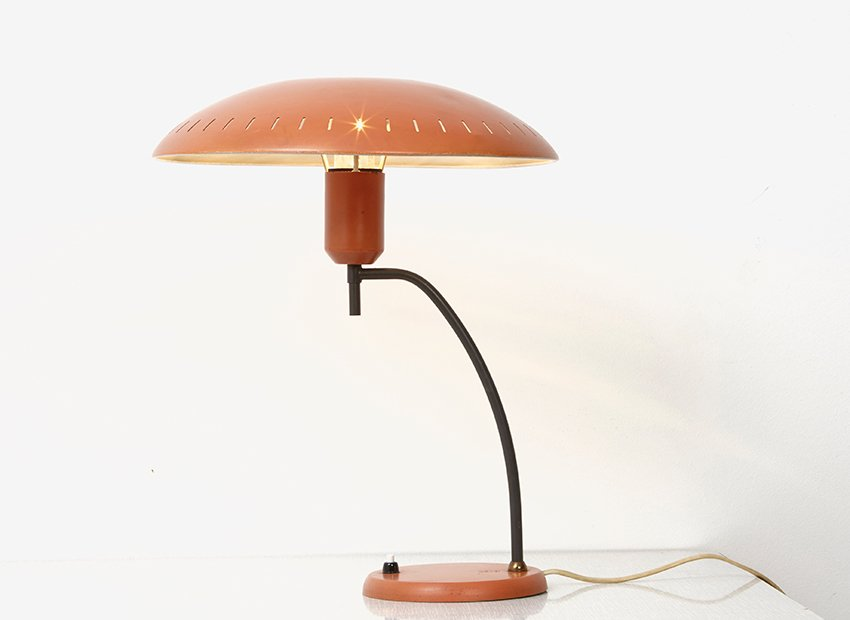 Lampada da tavolo junior di louis kalff per philips anni - Lampada da tavolo philips ...