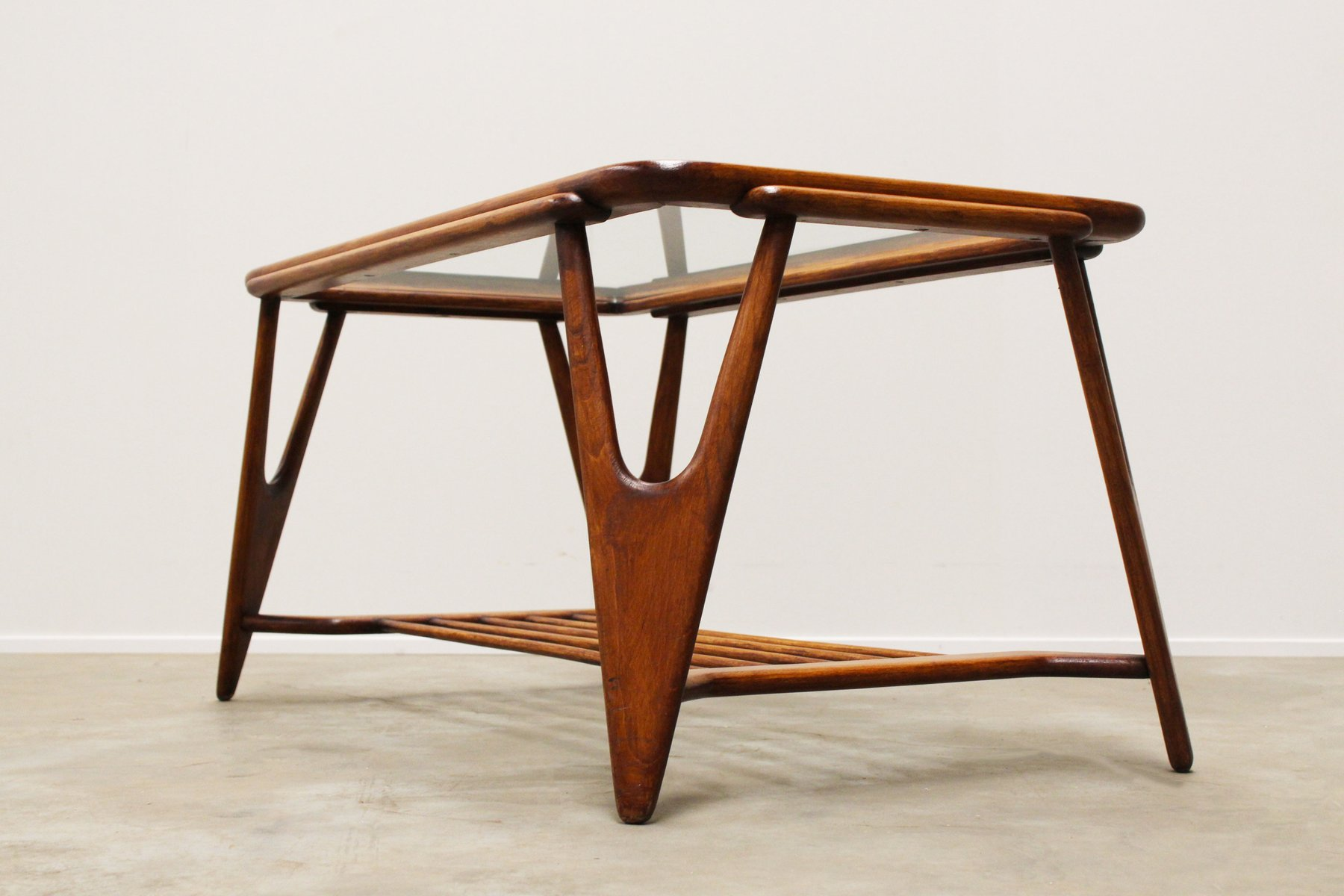 Mid Century Italian Coffee Table By Cesare Lacca For Cassina 1950s For Sale At Pamono
