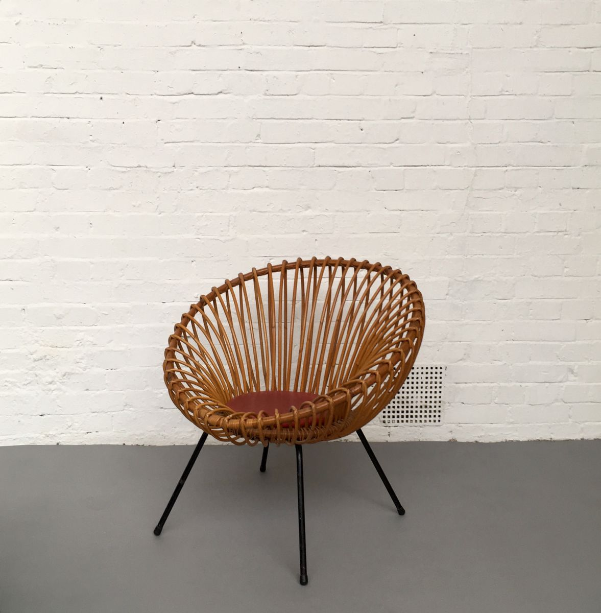 Rattan lounge  Mid-Century Dutch Rattan Lounge Chair by Dirk van Sliedregt for ...