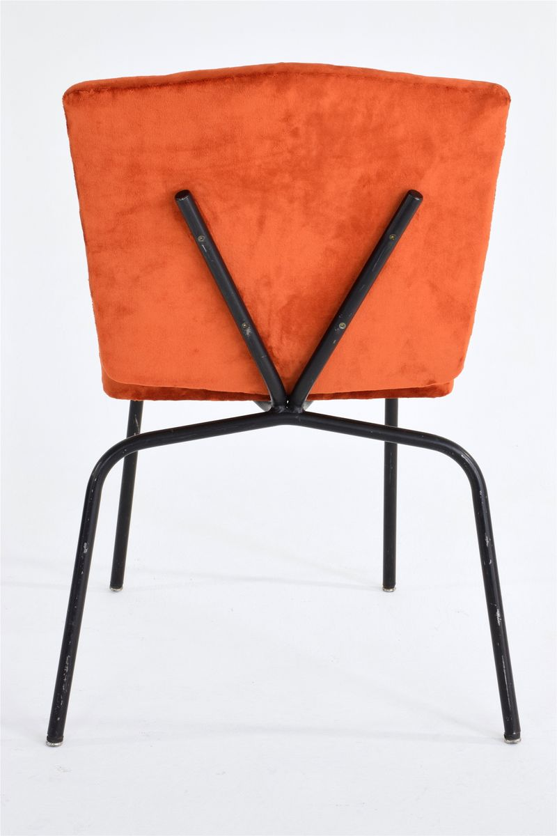 Mid Century French Velvet Chairs Set Of 2 For Sale At Pamono