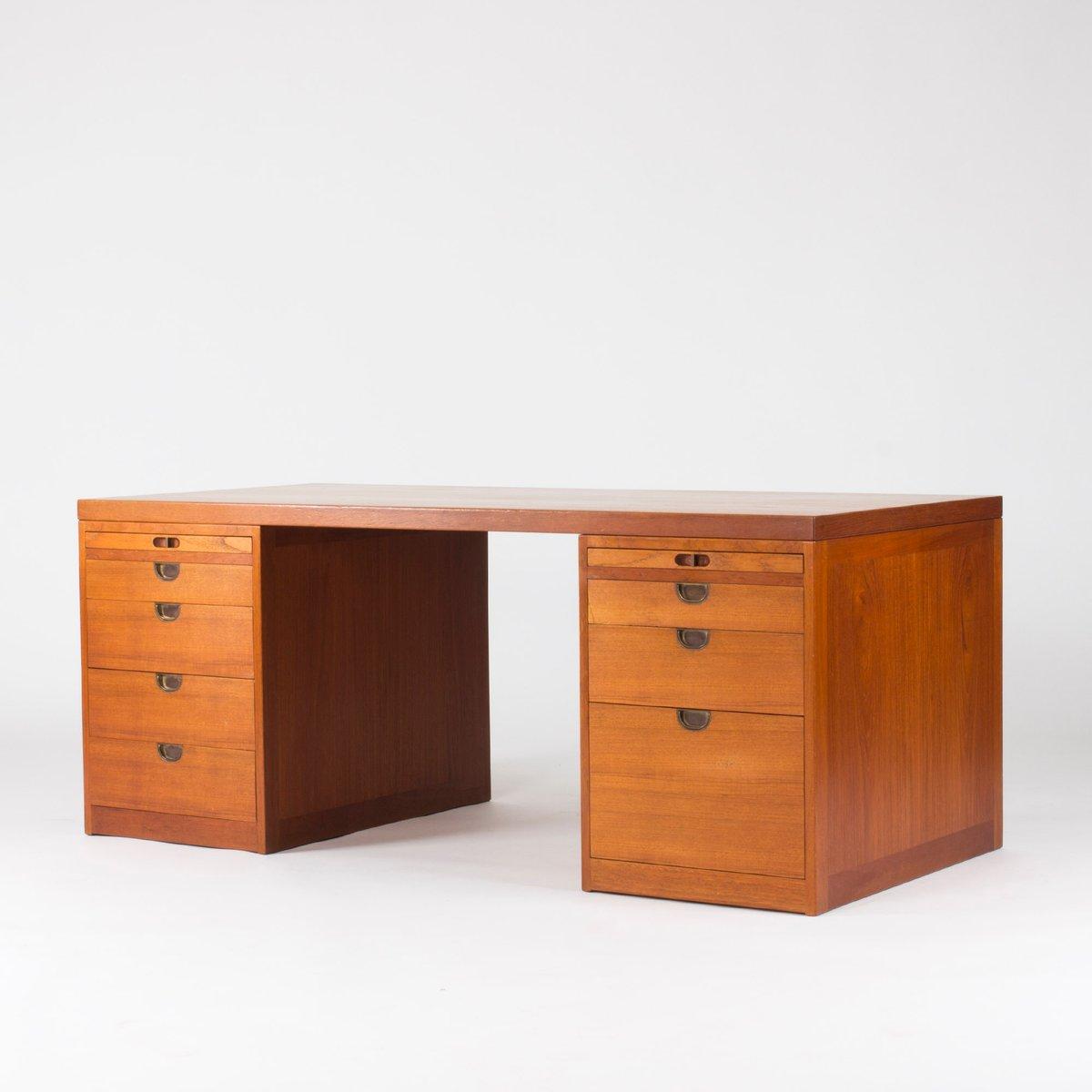 teak schreibtisch von b rge mogensen f r p lauritsen. Black Bedroom Furniture Sets. Home Design Ideas