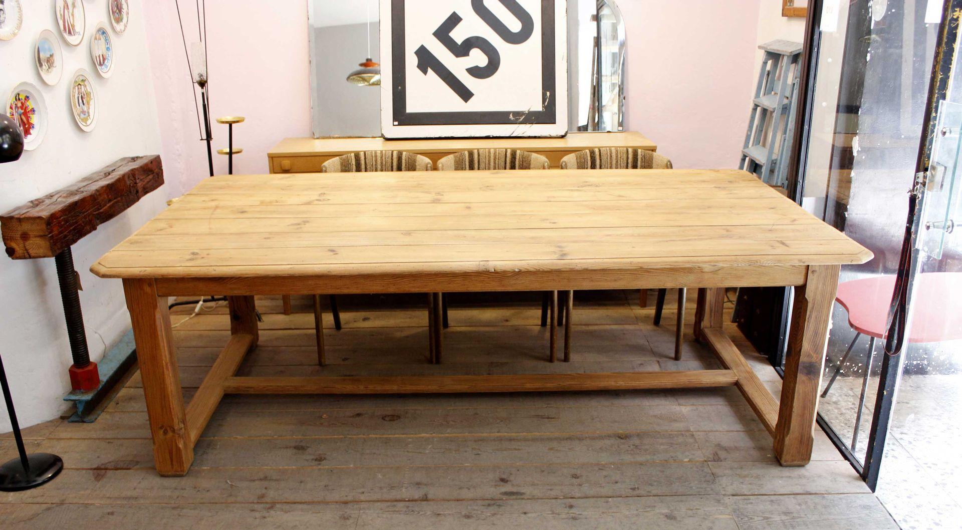 vintage kiefernholz tisch bei pamono kaufen. Black Bedroom Furniture Sets. Home Design Ideas