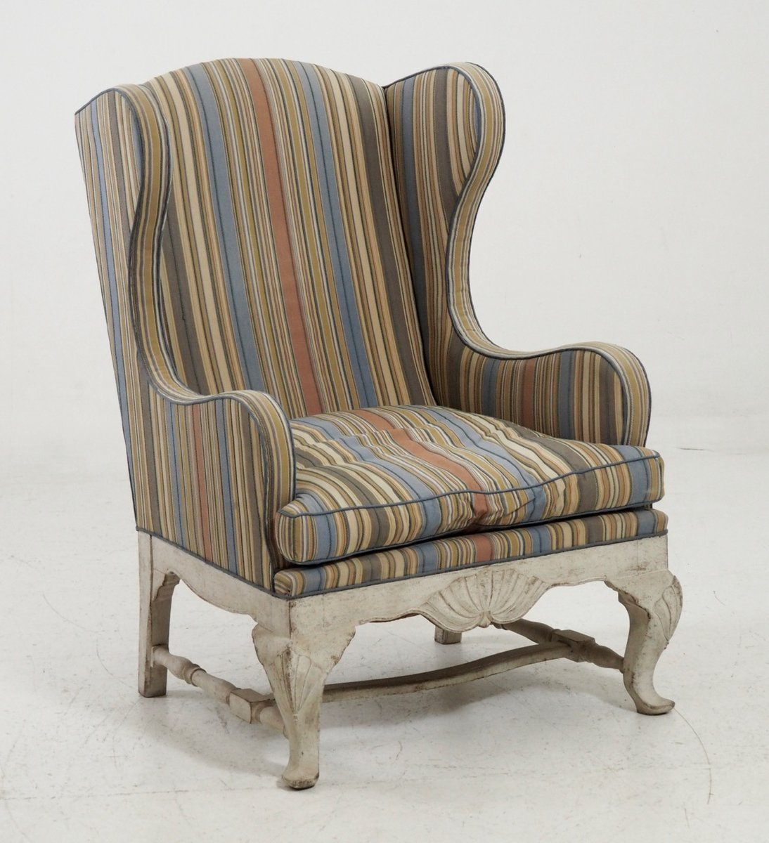 antique wingback chair 1910s