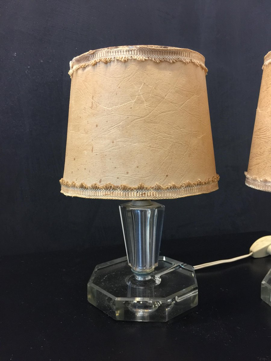 Lampade da tavolo vintage in vetro di cristal art italia - Lampade da tavolo anni 50 ...