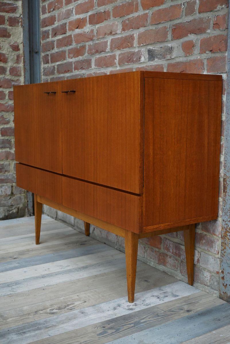 kleines sideboard aus teak 1960er bei pamono kaufen. Black Bedroom Furniture Sets. Home Design Ideas