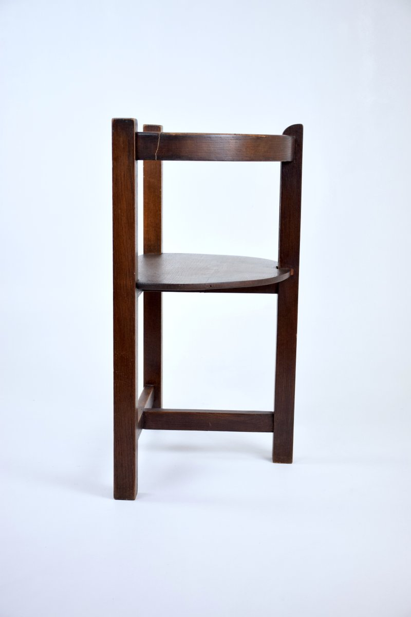 French Art Deco Sculpted Oak Chair 1930s for sale at Pamono