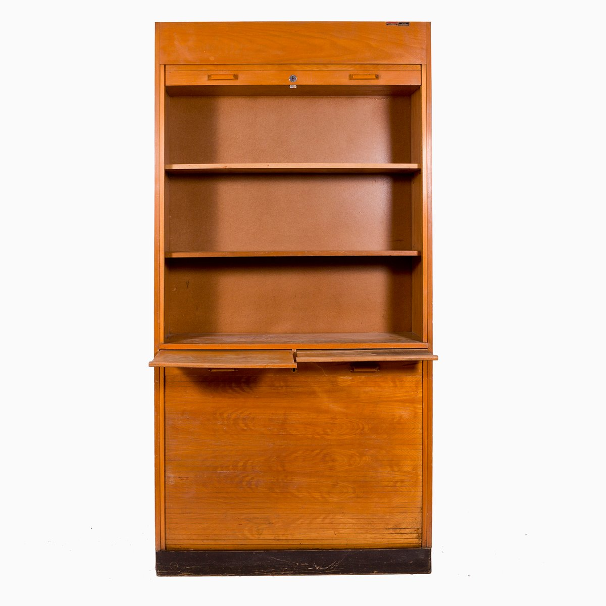 Vintage cabinet with tambour door for sale at pamono for Sideboard 2 m lang