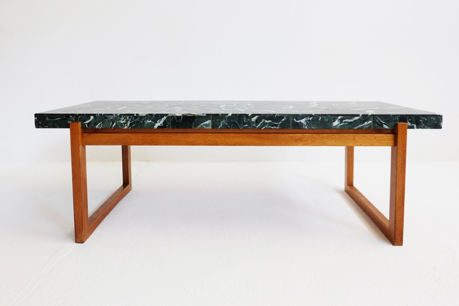 Table basse en marbre verte 1960s en vente sur pamono for Table en marbre
