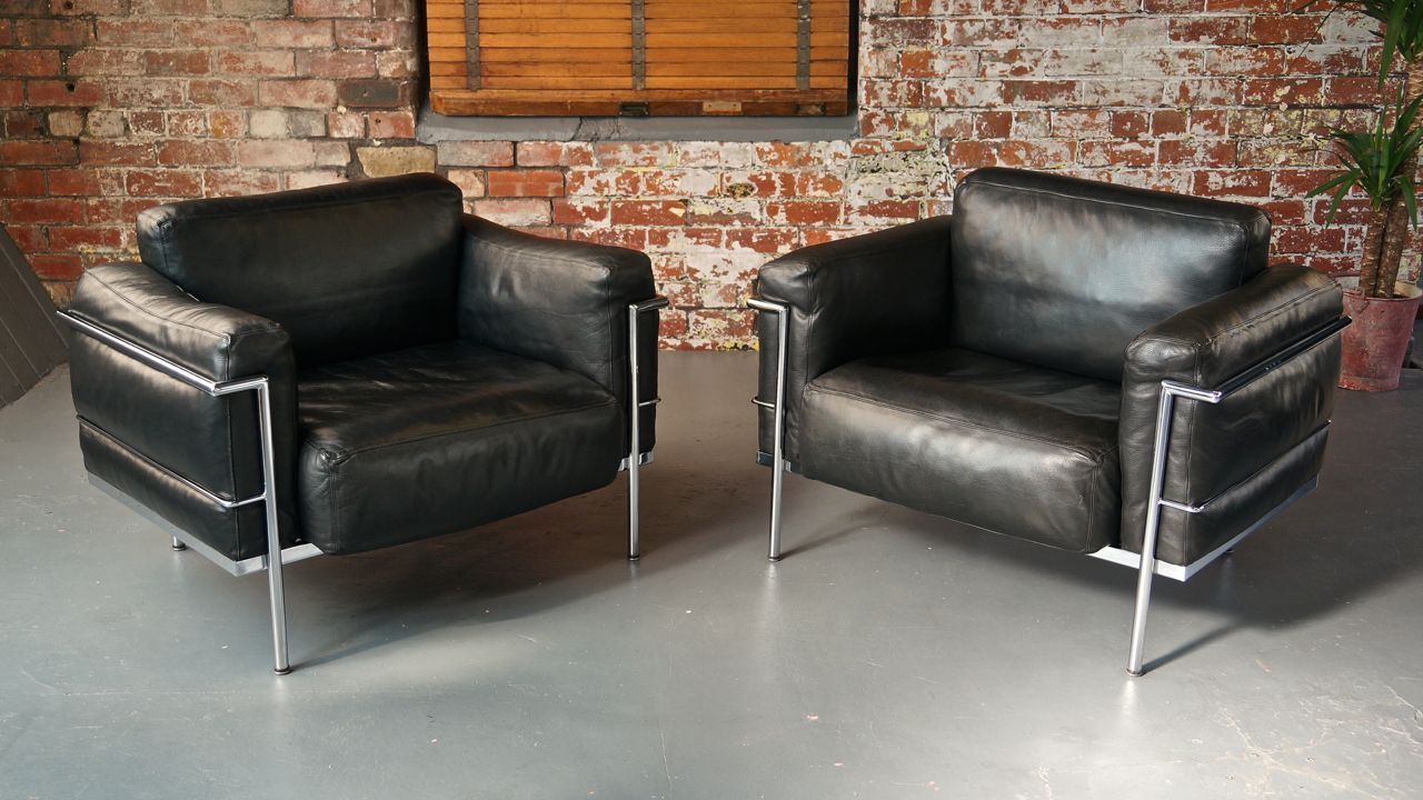 Vintage Grand Confort Lc3 Lounge Chairs By Le Corbusier P