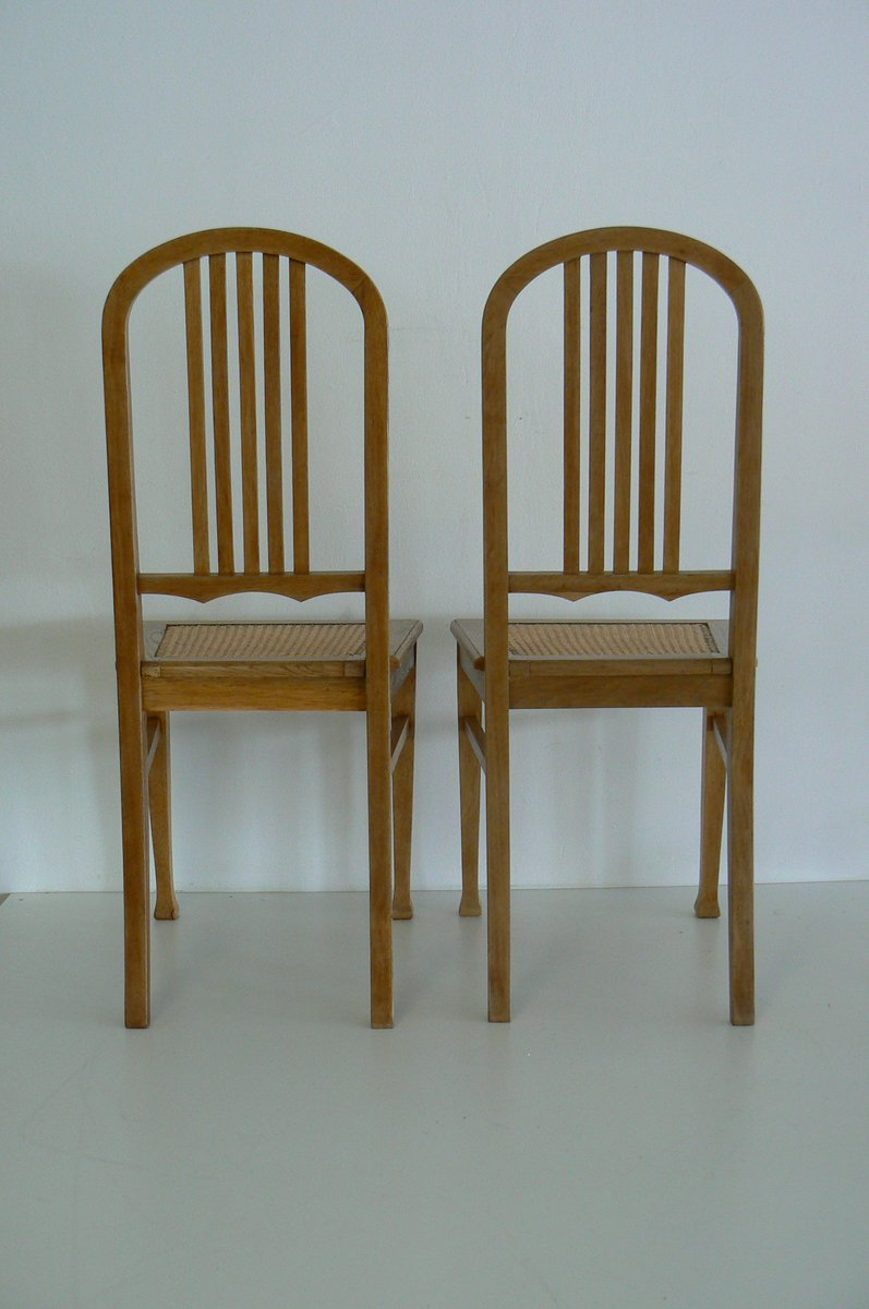 German Antique Oak Dining Chairs, Set of 2 for sale at Pamono
