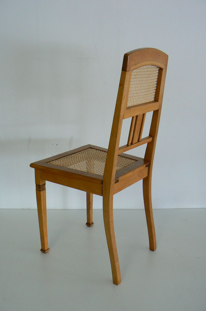 Vintage German Antique Beech Dining Chair for sale at Pamono