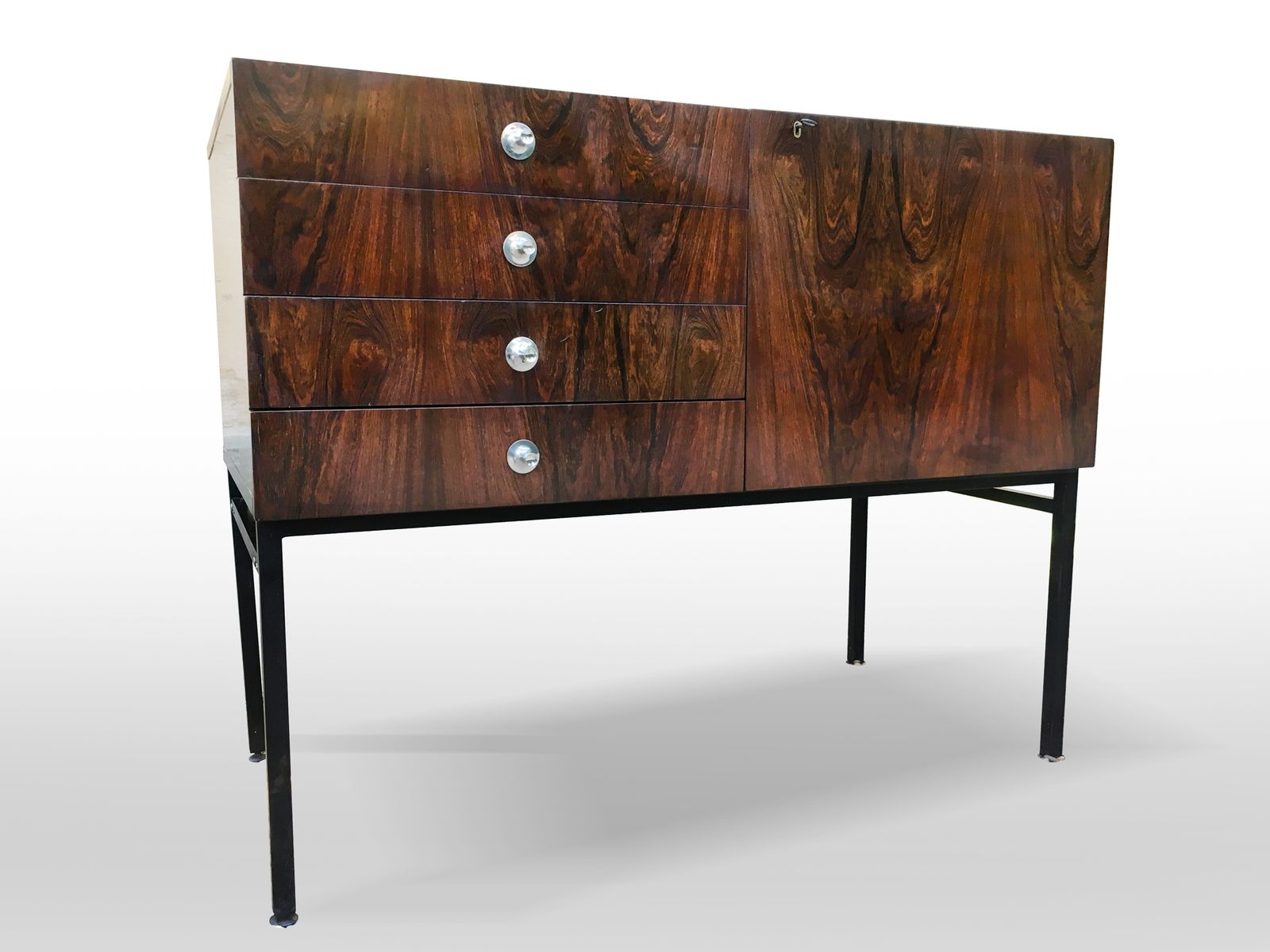 vintage sideboard 800 by alain richard for meubles tv for sale at pamono. Black Bedroom Furniture Sets. Home Design Ideas