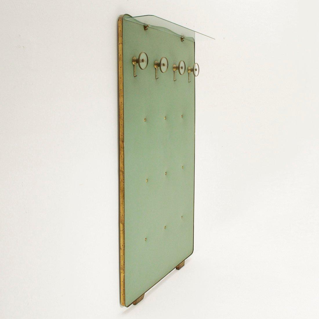 Mid century glas messing garderobe 1950er bei pamono kaufen for Garderobe englisch