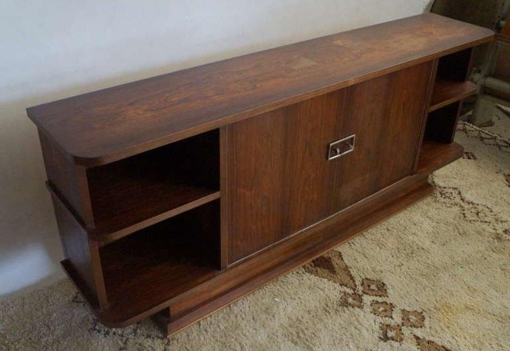 meuble vintage art d co en palissandre en vente sur pamono. Black Bedroom Furniture Sets. Home Design Ideas