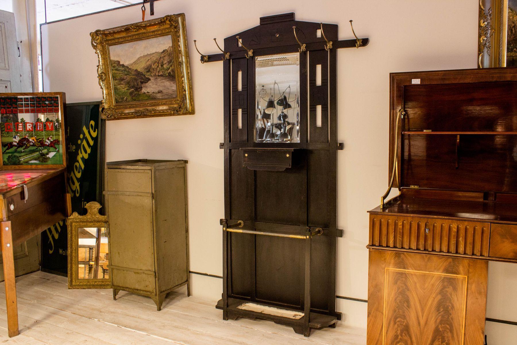 schwarze art deco flur garderobe bei pamono kaufen. Black Bedroom Furniture Sets. Home Design Ideas