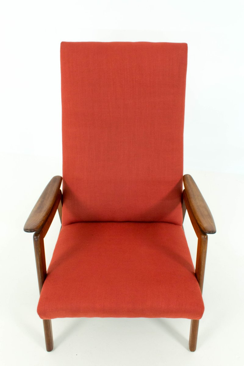 midcentury modern red high back chairs s set of  for sale  - midcentury modern red high back chairs s set of