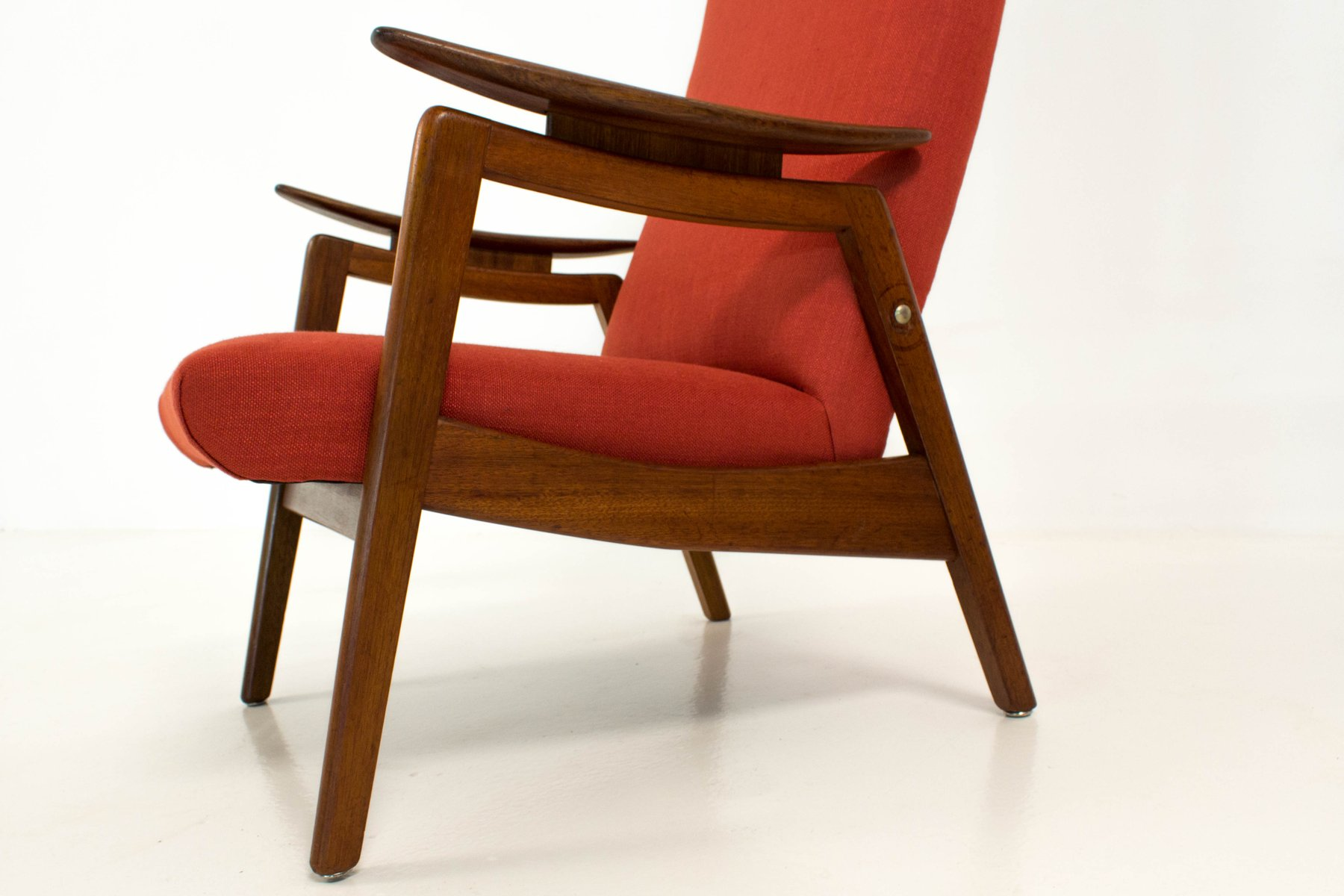 midcentury modern red high back chairs s set of  for sale  - price per set
