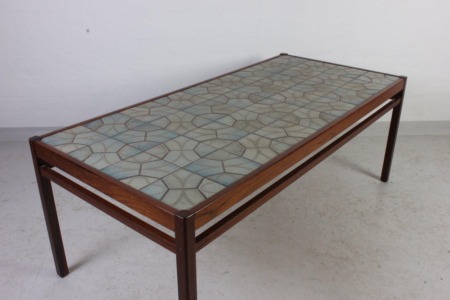 Mid Century Danish Teak Ceramic Coffee Table For Sale At Pamono