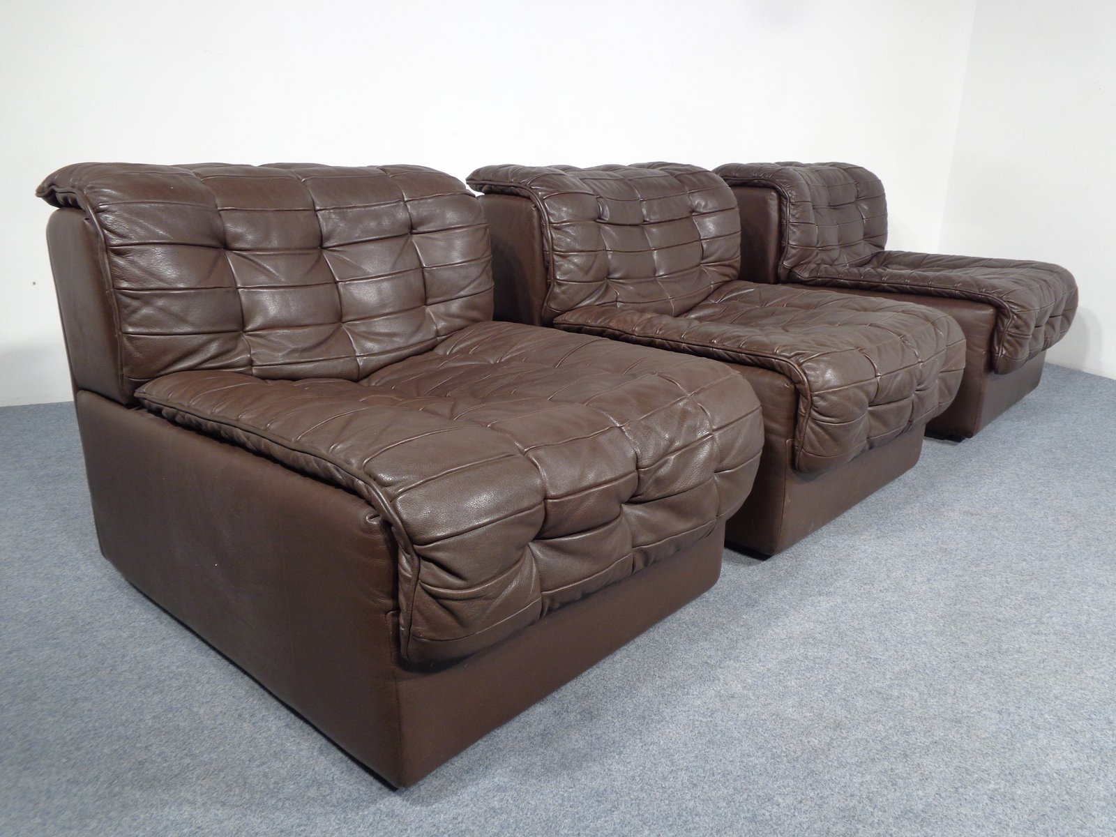 swiss ds 11 leather sofa from de sede 1970s for sale at pamono. Black Bedroom Furniture Sets. Home Design Ideas