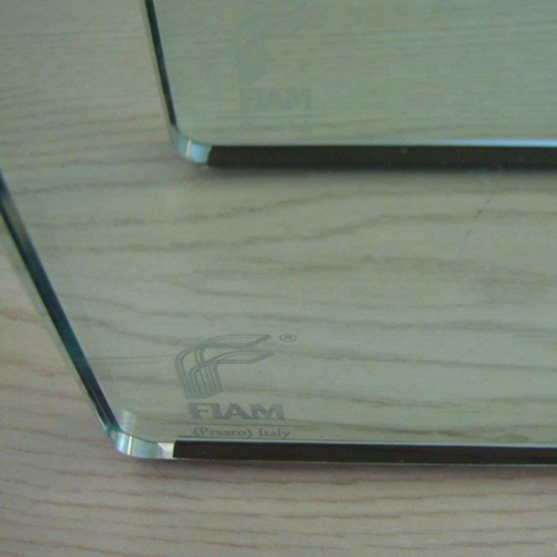 panca couchtische aus gebogenem glas von vittorio livi f r. Black Bedroom Furniture Sets. Home Design Ideas