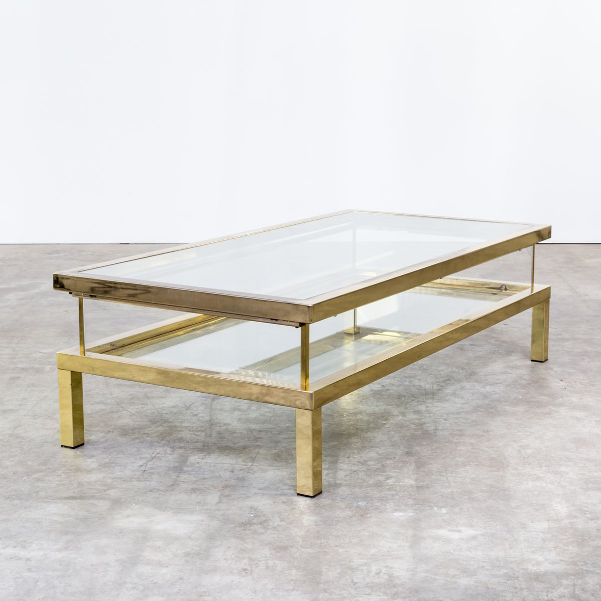 French Sliding Coffee Table From Maison Jansen 1950s For Sale At Pamono