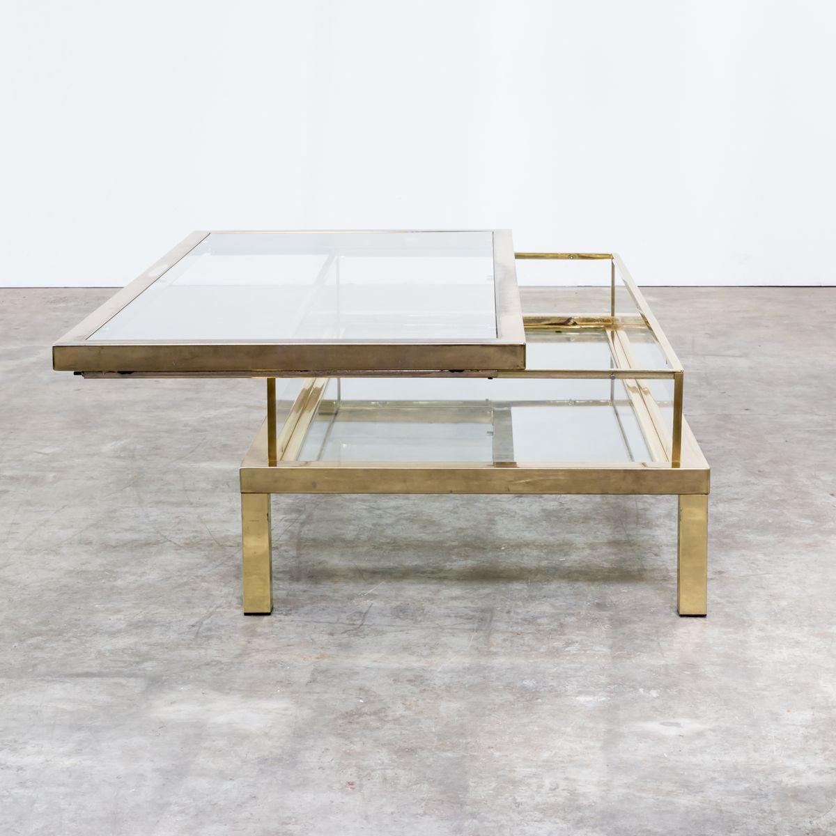 table basse coulissante de maison jansen france 1950s en vente sur pamono. Black Bedroom Furniture Sets. Home Design Ideas