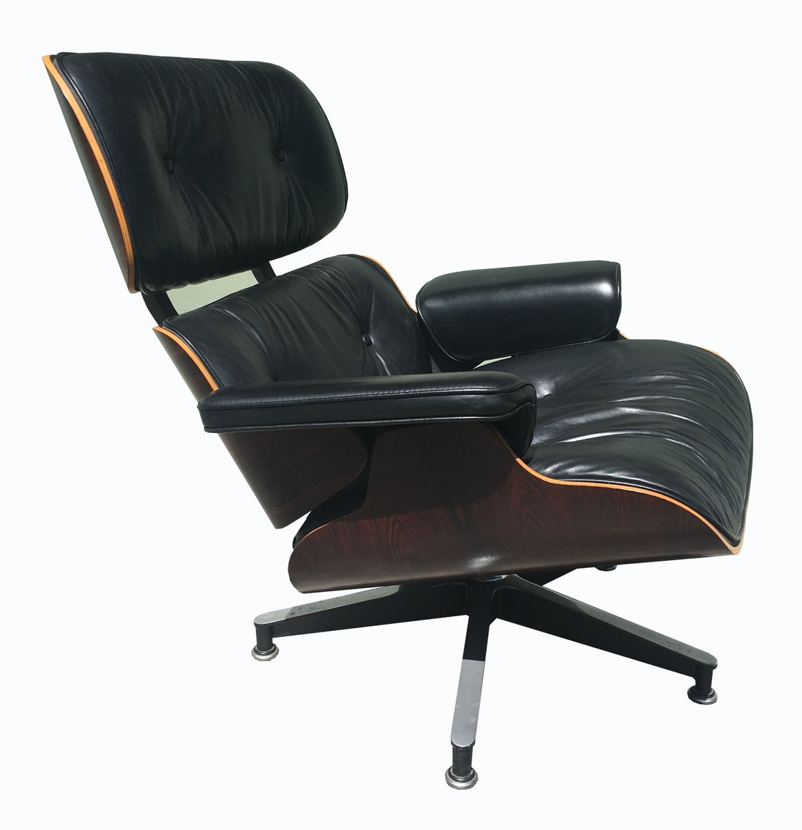 670 671 lounge chair ottoman by charles and ray eames for herman miller 1980s for sale at. Black Bedroom Furniture Sets. Home Design Ideas