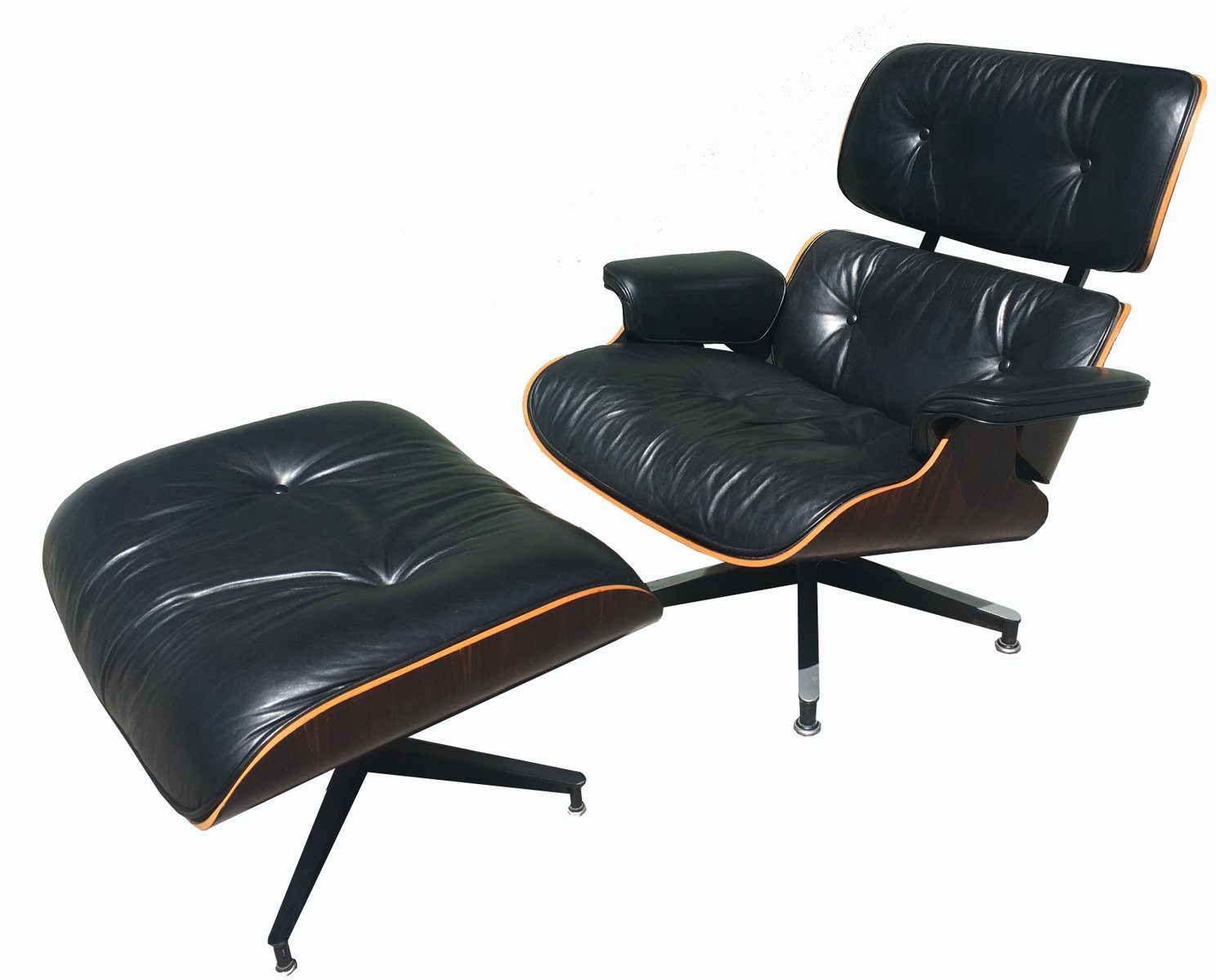 670 671 lounge chair ottoman by charles and ray eames for Charles eames lounge chair nachbildung