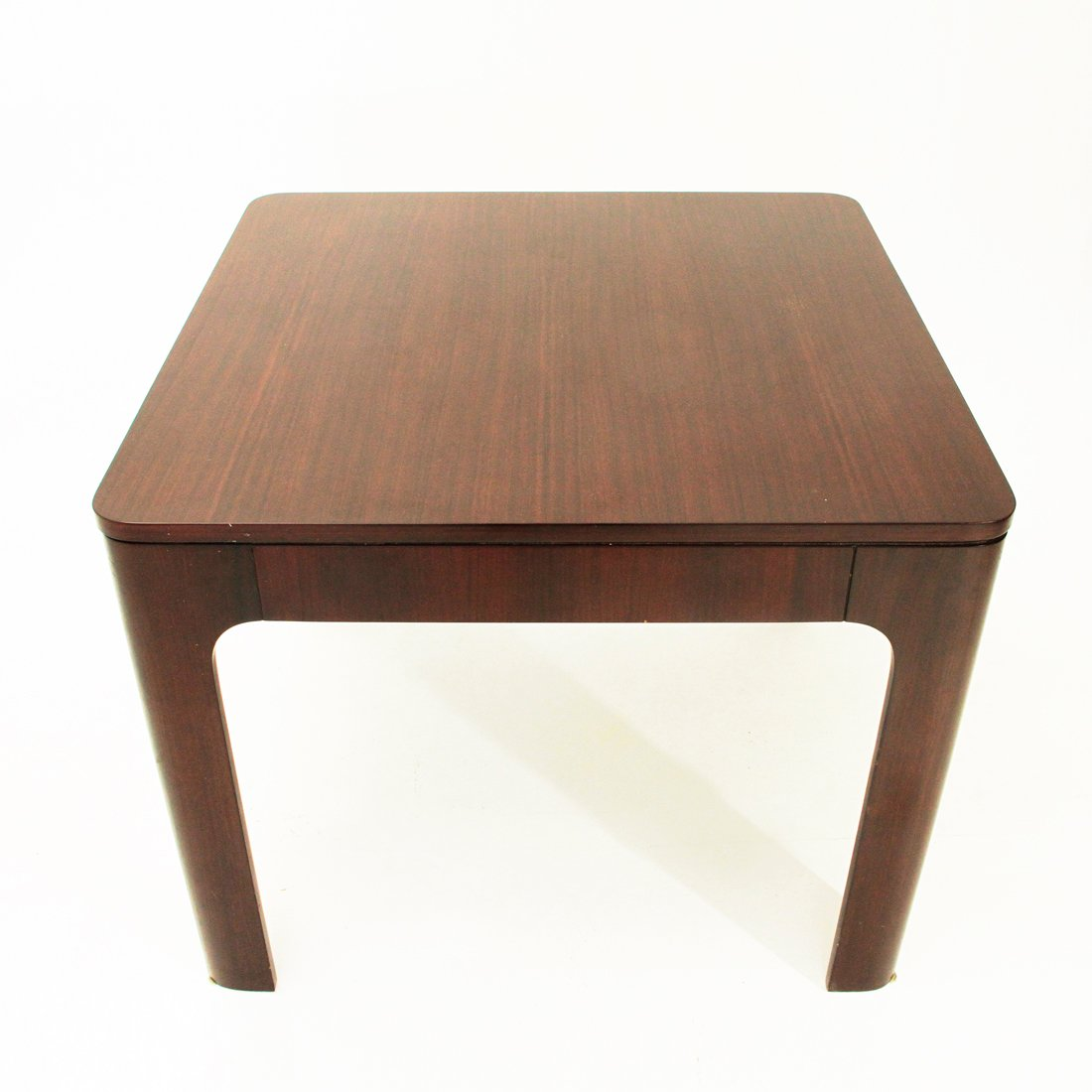 italian rosewood square extendible dining table 1960s for