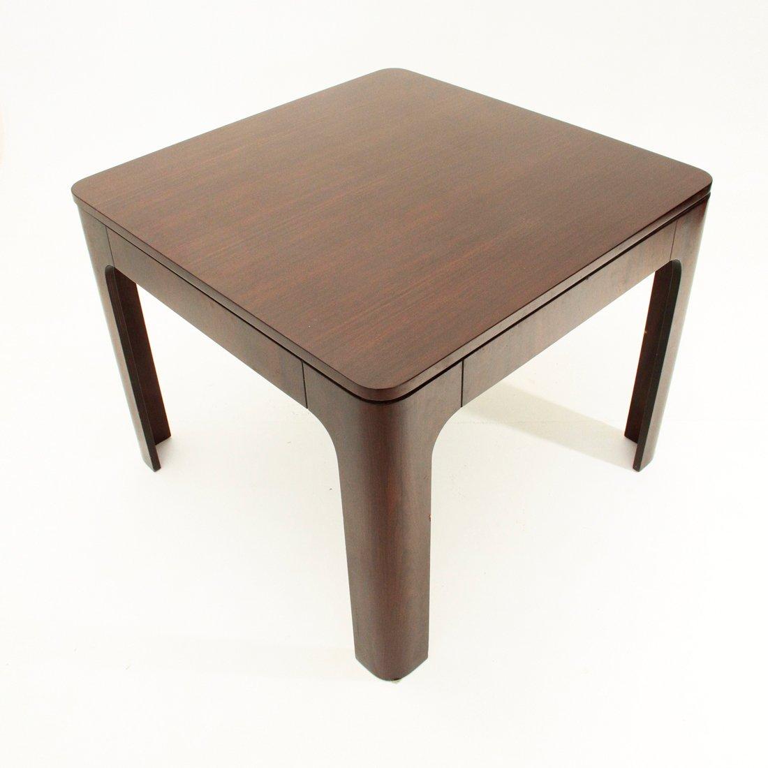 ausziehbarer quadratischer italienischer palisander. Black Bedroom Furniture Sets. Home Design Ideas