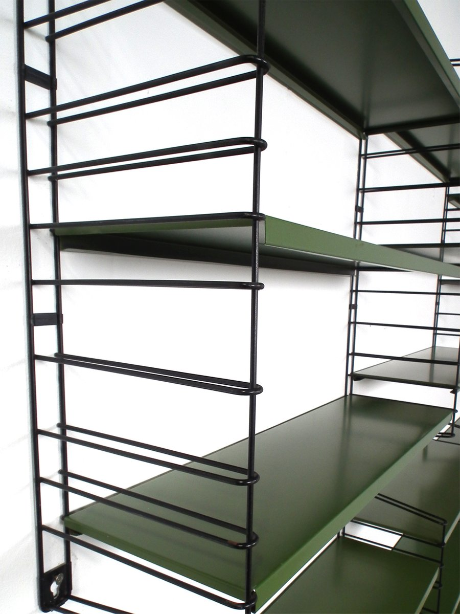 gr nes modulares vintage wandregal von dekker f r tomado. Black Bedroom Furniture Sets. Home Design Ideas