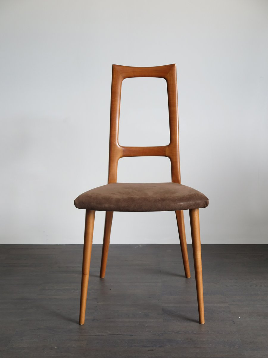 Cherry wood dining chairs 1960s set of 2 for sale at pamono for Wooden dining chairs for sale