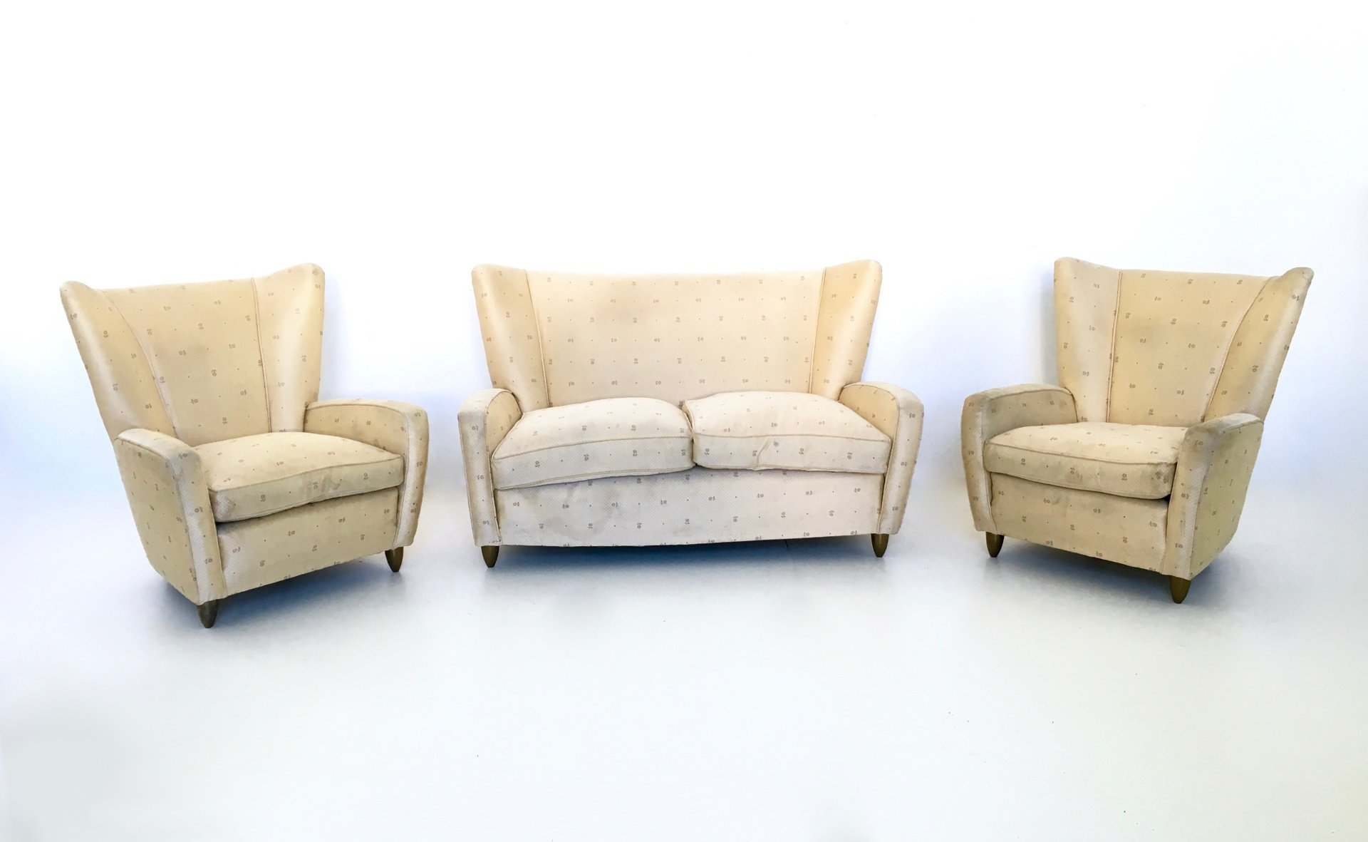 italian living room set by paolo buffa 1950s for sale at pamono. Black Bedroom Furniture Sets. Home Design Ideas