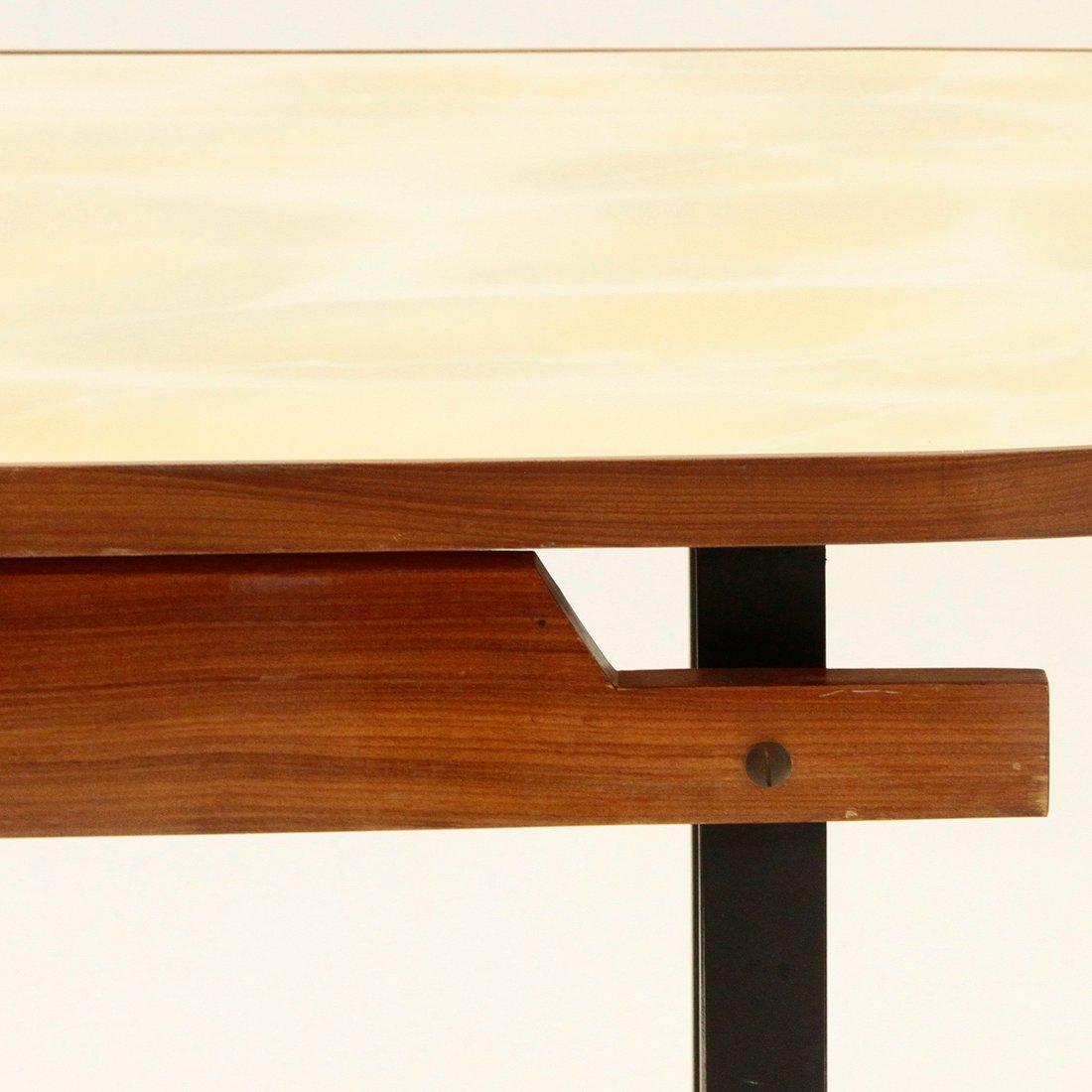 Italienischer esstisch mit gelber tischplatte aus glas - Esstisch aus glas ...